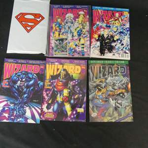 Lot #280 5 Issues of Wizard Comics Magazine