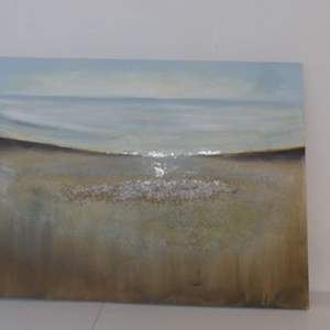 """Lot #283 Abstract Oil/Sand on Canvas Piece - 47"""" Width x 35"""" Height"""