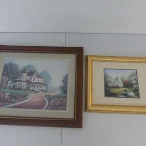 Lot #289 2 Country Scene Pieces