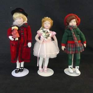 Lot #292 Avon Childhood Dreams Collection Porcelain Dolls - In Boxes (See Description)