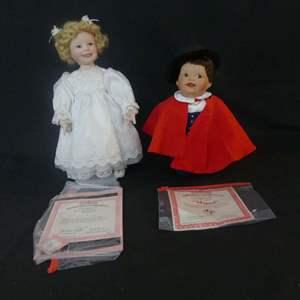 Lot #298 2 Ashton Drake by Yolanda Bello Porcelain Dolls - With COAs (See Description)