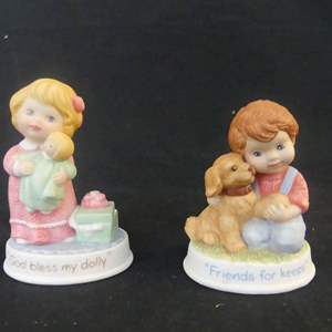 Lot #303 2 Avon Tender Memories Collection White Porcelain Figurines - In Boxes (See Description)