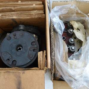 Lot # 180  LOOK closely 2 original Ford tractor engine parts