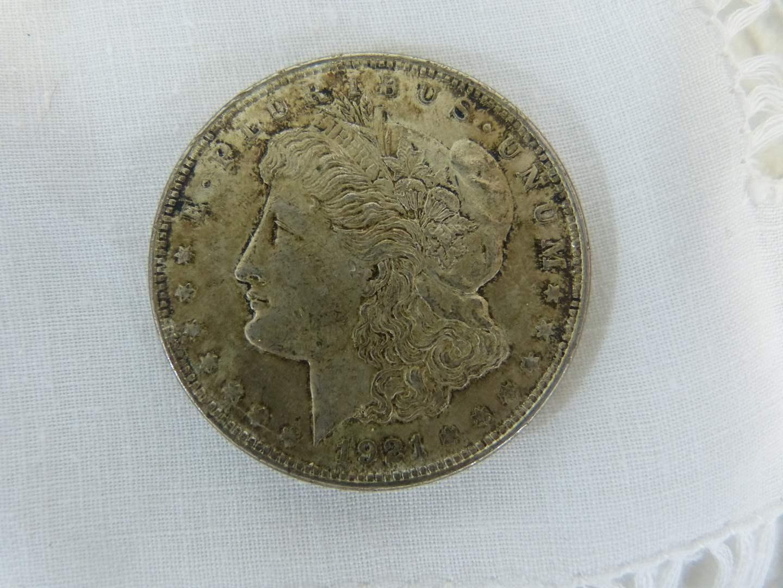 Lot # 101 1921 Morgan US Silver DOLLAR (main image)