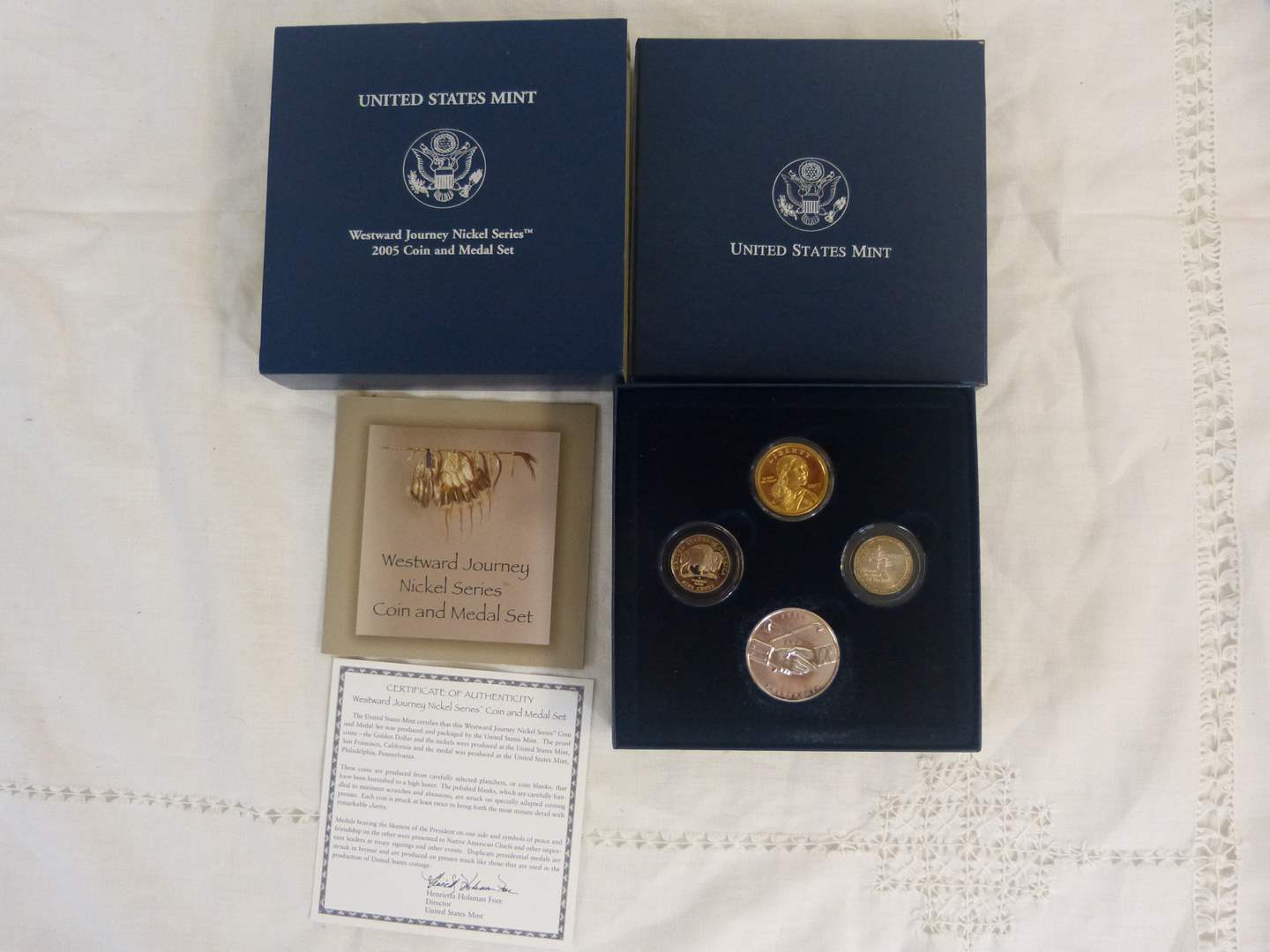 Lot # 111 Westward Journey United States Mint Coin Set in great cast Nickel Series (main image)