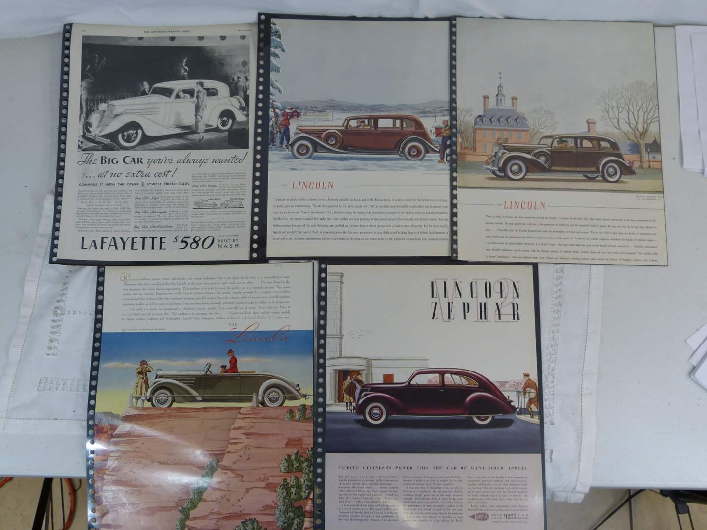 Lot # 53 Lot of vintage Ford car advertising (main image)