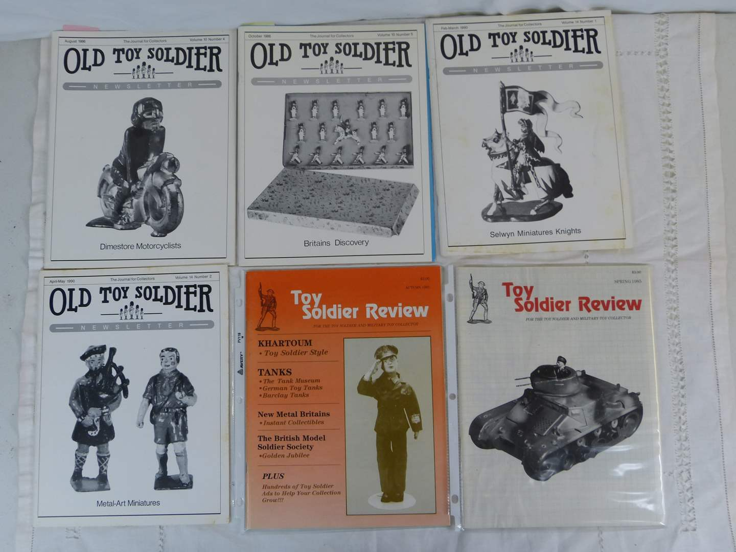 Lot # 55 Lot of Vintage Old Toy Soldier advertising magazines (main image)