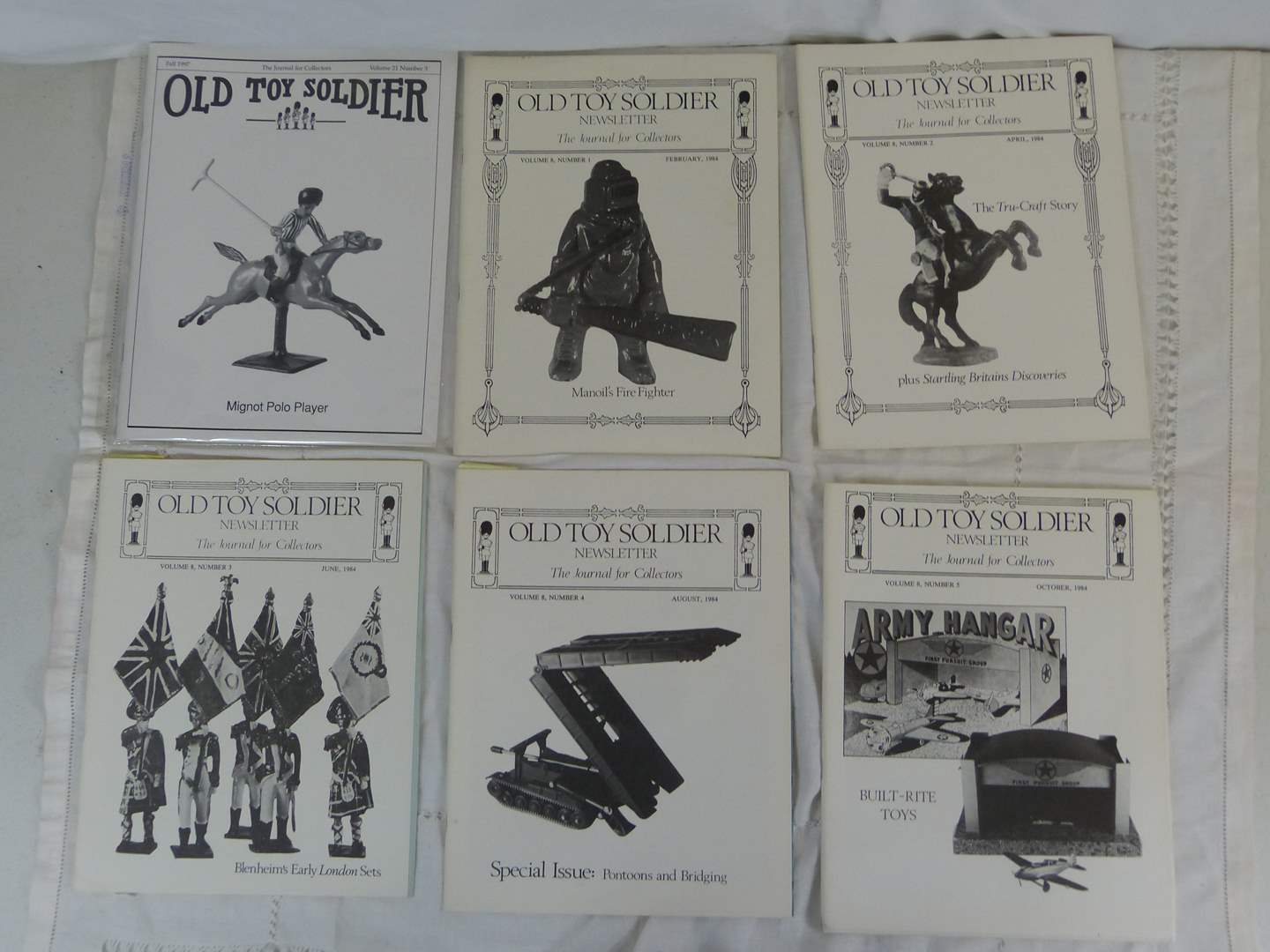 Lot # 56 Lot of Vintage Old Toy Soldiers Magazines (main image)
