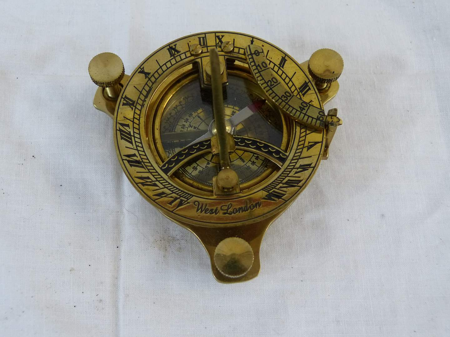 Lot # 157 Novelty Sextant Brass (Made in India) very cool (main image)
