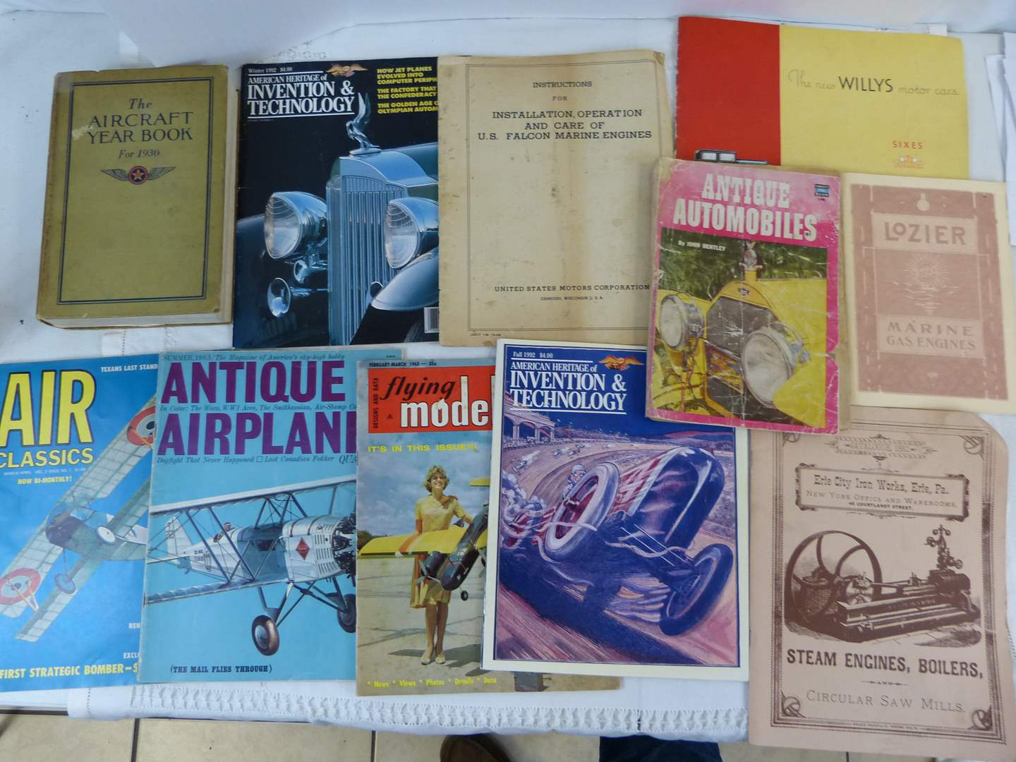 Lot # 185 Vintage car airplane how to books (main image)