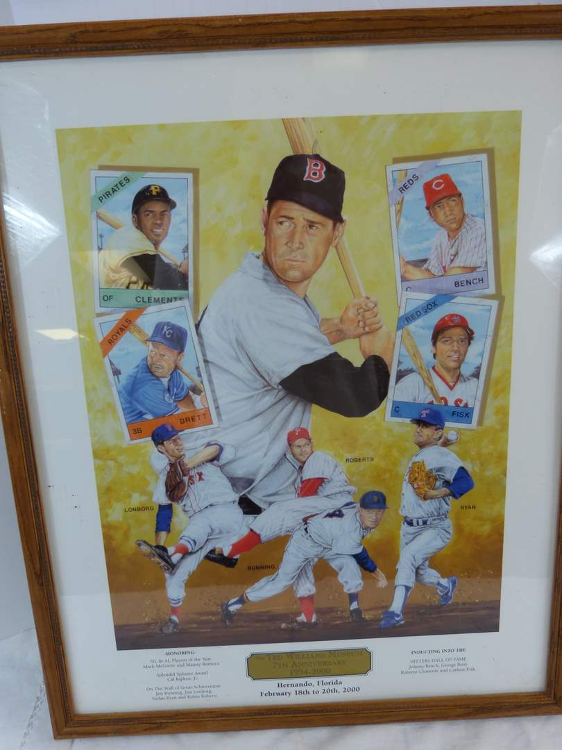 """Lot # 192 Ted Williams Hitters Hall of Fame poster 21X17"""" (main image)"""