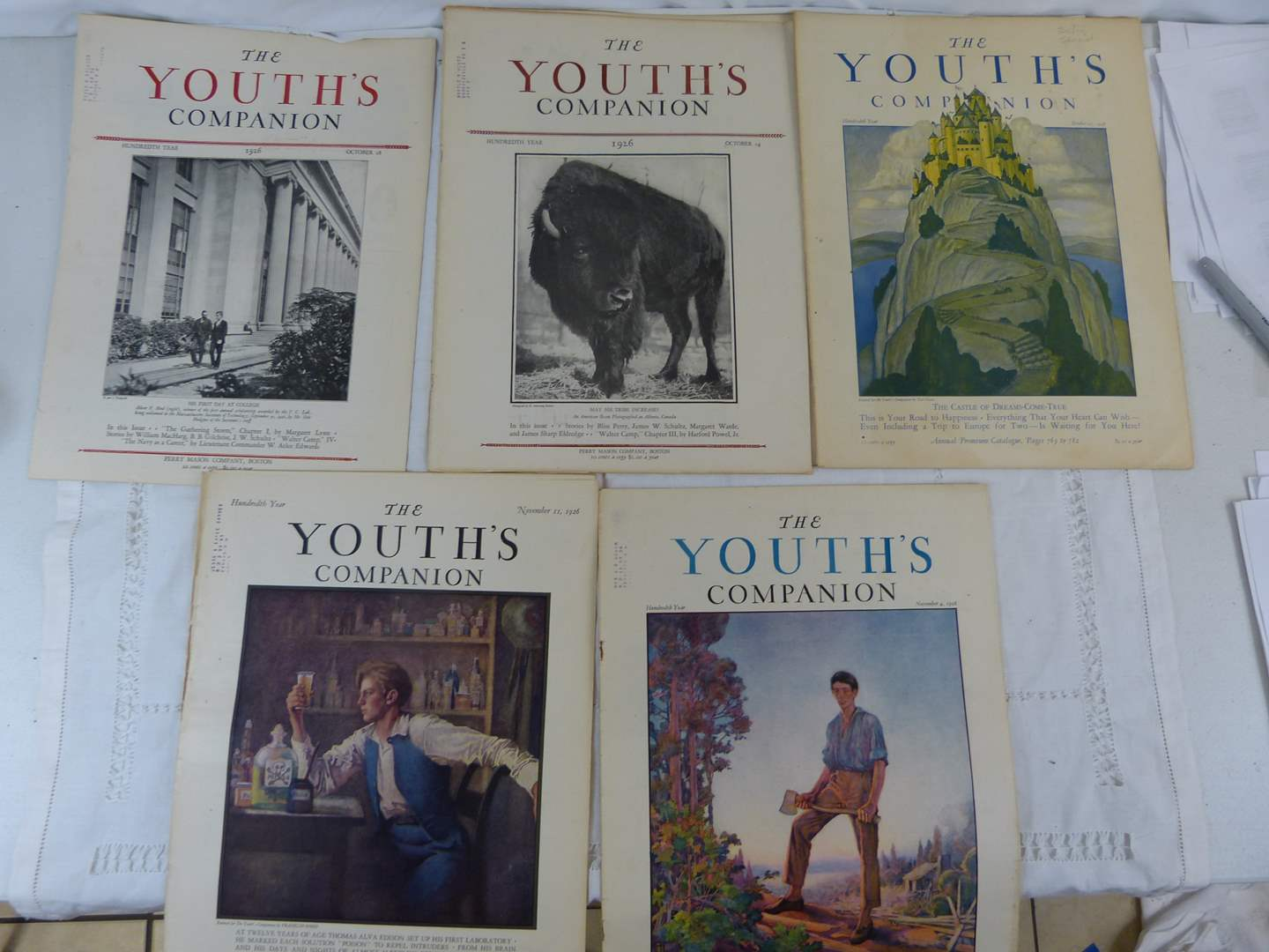 Lot # 194 Collection of Early 1900's Youth's Companion magazines (main image)