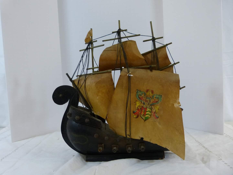 Lot # 209 AWESOME vintage Viking Ship night light (plug needs to be changed) (main image)