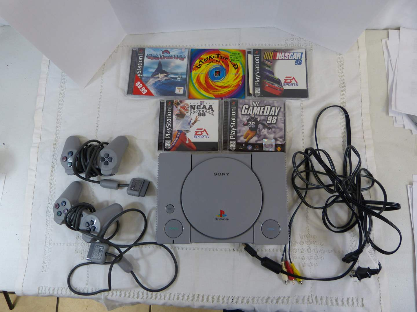 Lot # 212 PS1 Play Station system and games (excellent condition) (main image)