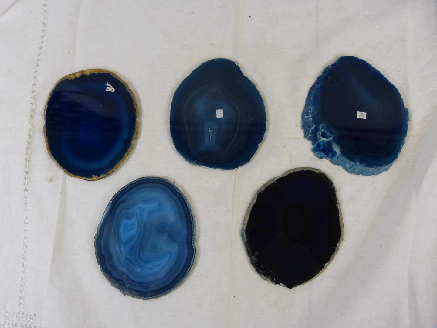 """Lot # 229 GREAT collection of AGATE polished stones 5"""" average (CHECK the pictures in the light) (main image)"""