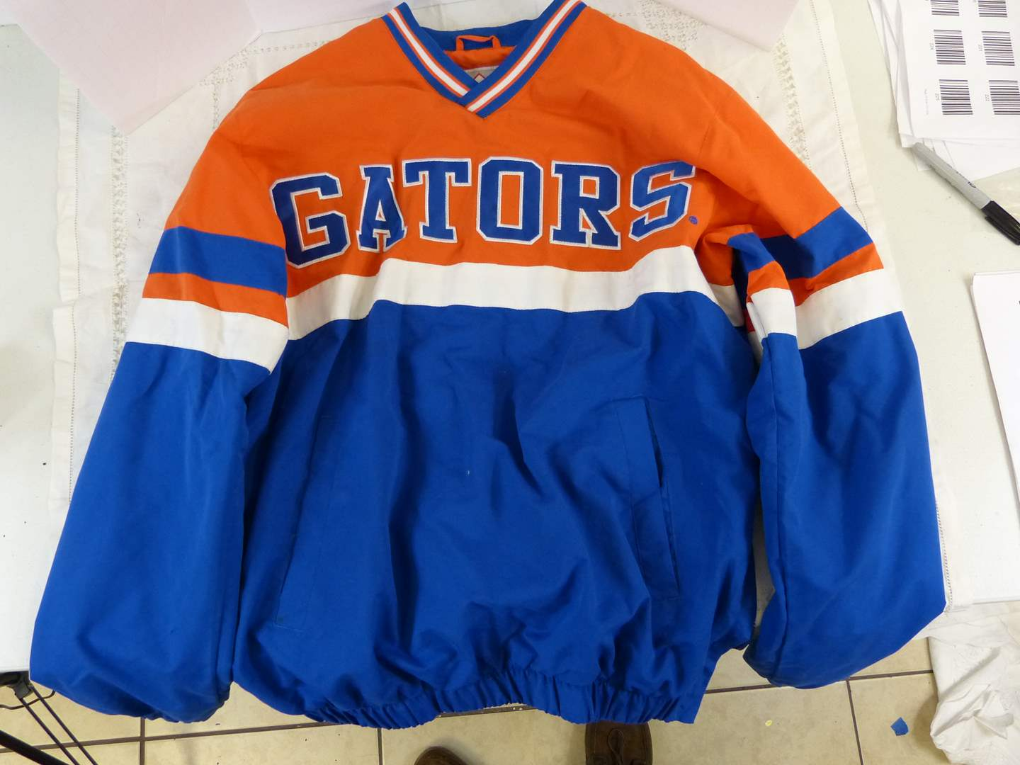 Lot # 236 Great GATOR pull-over jacket size S/CH (couple light stains) (main image)