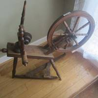 Auction Thumbnail for: Lot #63 antique spinning wheel