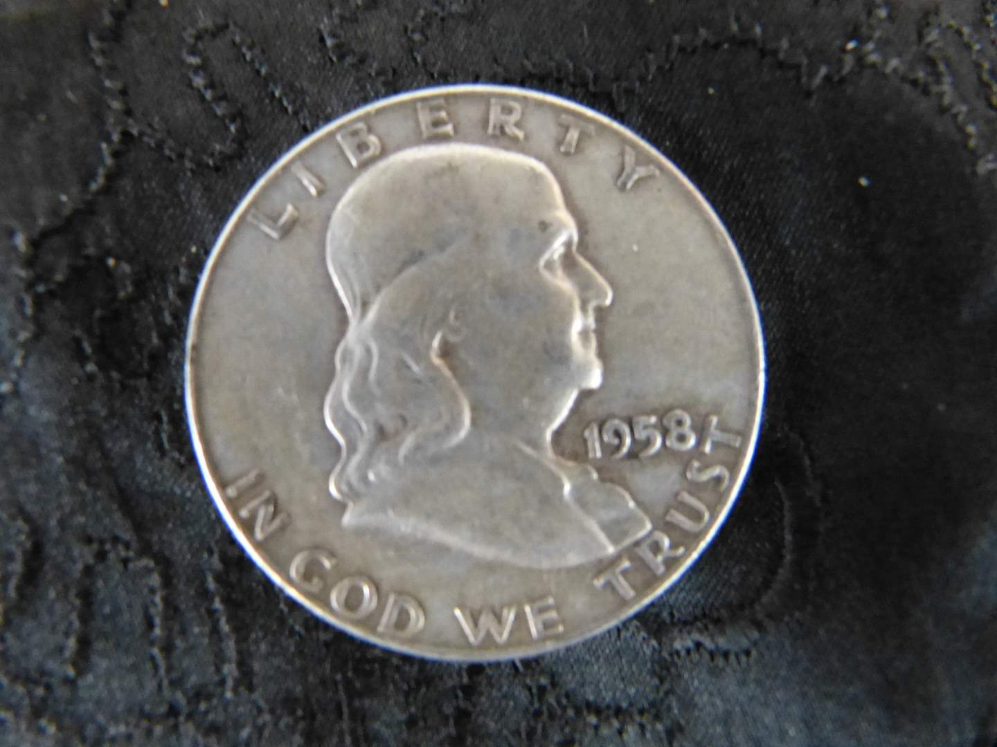 Lot # 117 1958-D UNITED STATES SILVER Half Dollar (main image)