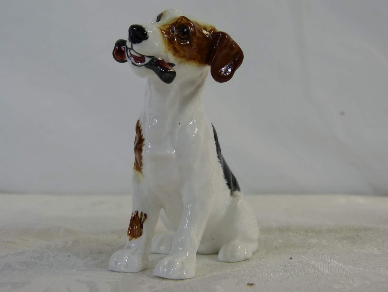 """Lot # 9 Royal Doulton dog waiting for walk 4"""" tall X 4"""" long HIGHLY COLLECTIBLE (main image)"""