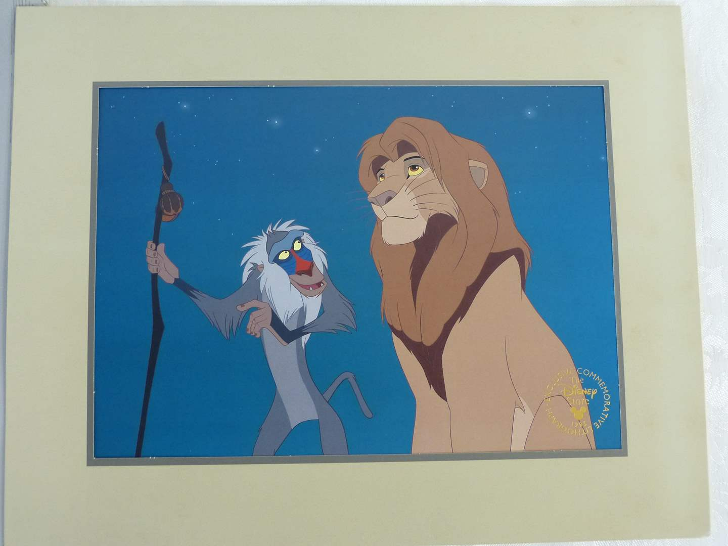 "Lot # 75 Lion King DISNEY Lithograph 14"" in sleeve (main image)"