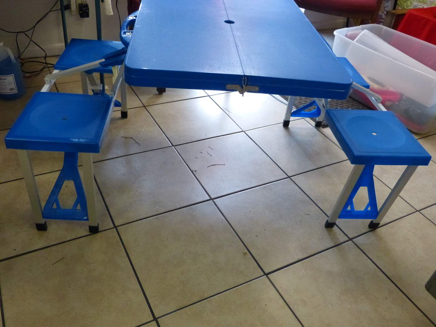 Lot # 174 Great foldable child's table (great for crafts etc) The case is 33X24 CLOSED (main image)