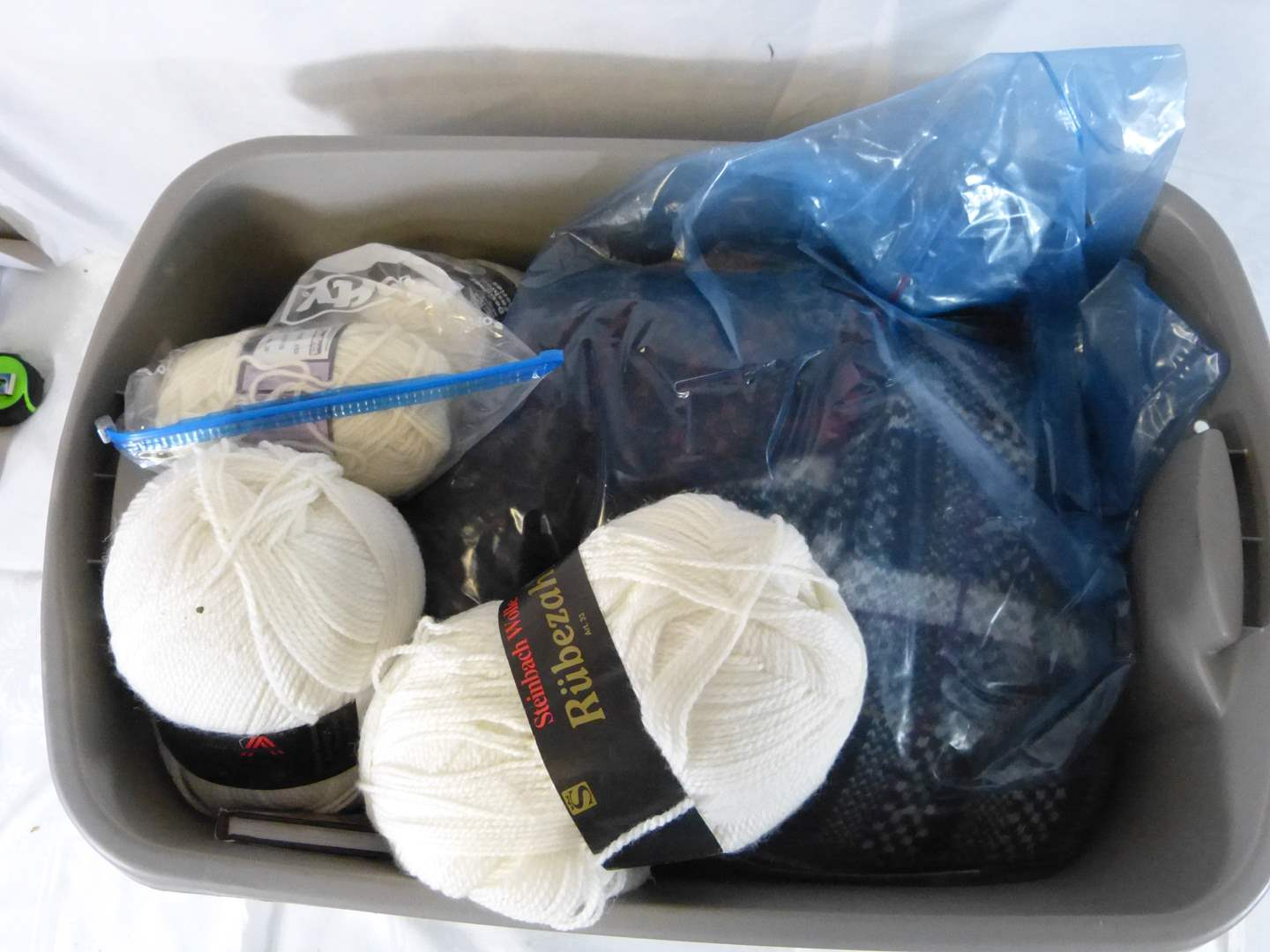 Lot # 222 Lot of yarn and collectibles (main image)