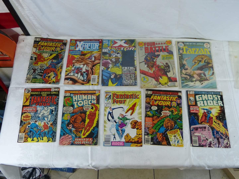 Lot # 263 Large lot of VINTAGE comic books (main image)