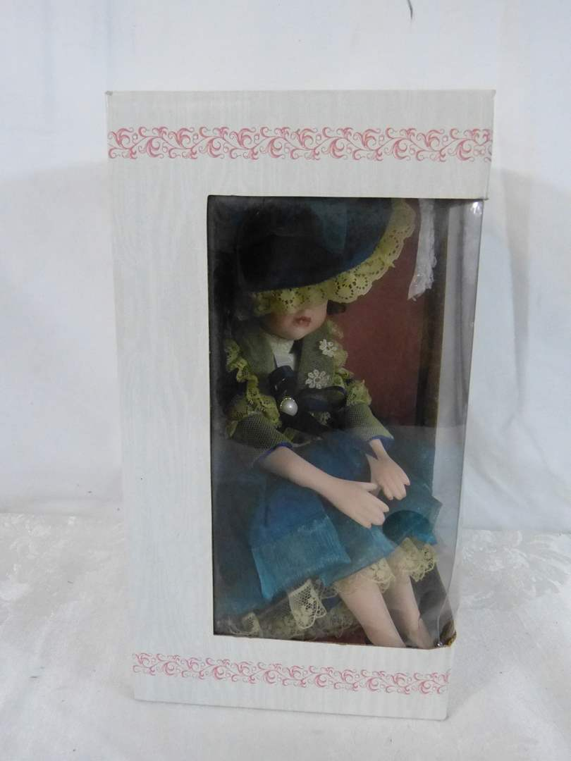 "Lot # 266 NEW in box Chatelaine doll 9"" (main image)"
