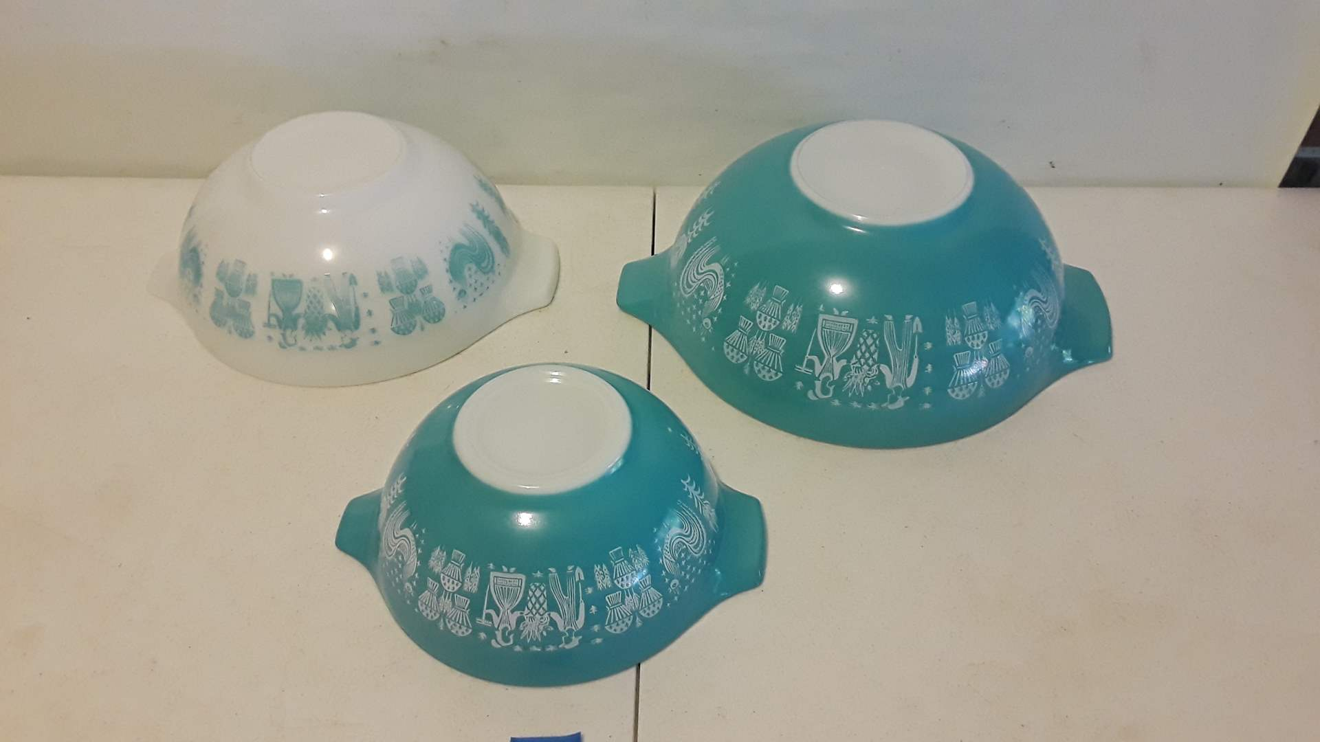Lot # 1 PYREX BUTTER PRINT 444, 443 AND 442, GOOD CONDITION