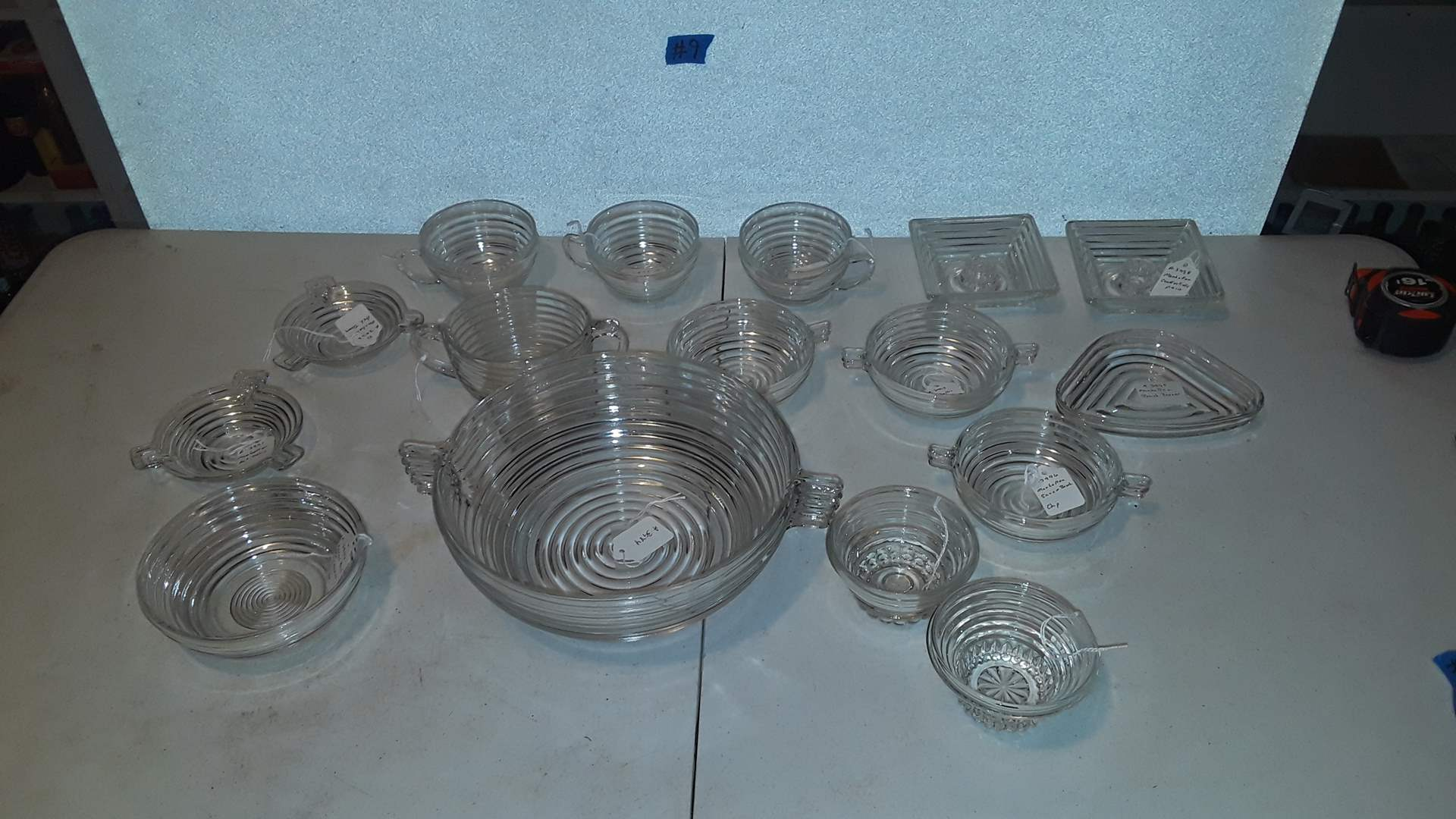 Lot # 9 ANTIQUE MANHATTAN DISHWARE, 2 HAVE SMALL CHIPS