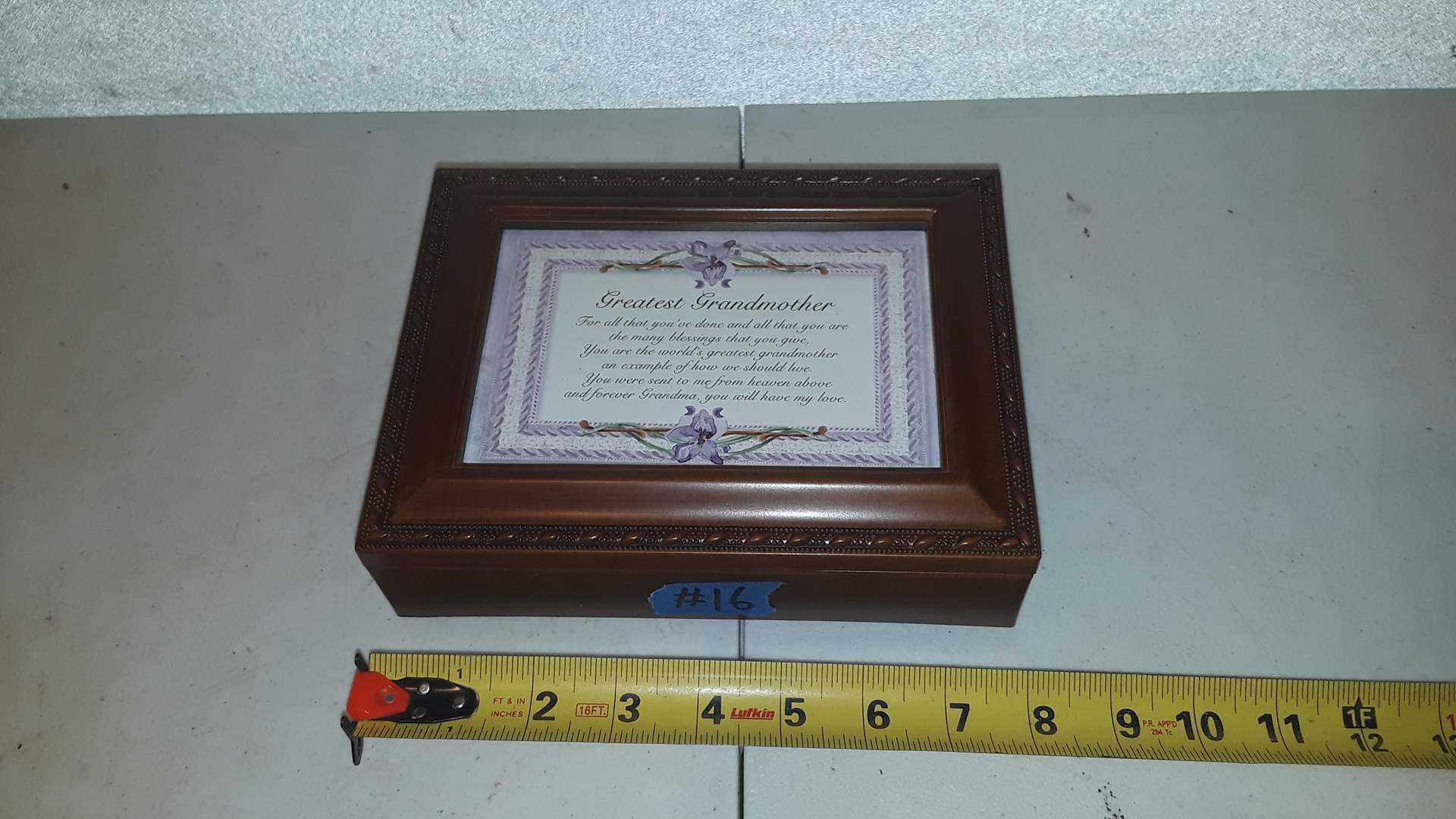Lot # 16 GREAT GRANDMOTHER MUSIC BOX WITH NECKLACE