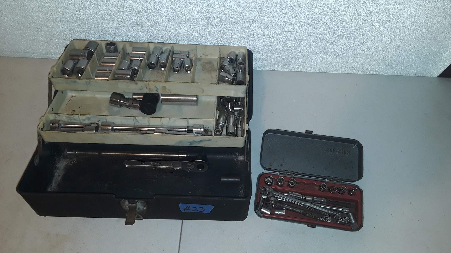 Lot # 23 MIXED SOCKET SETS WITH CASES