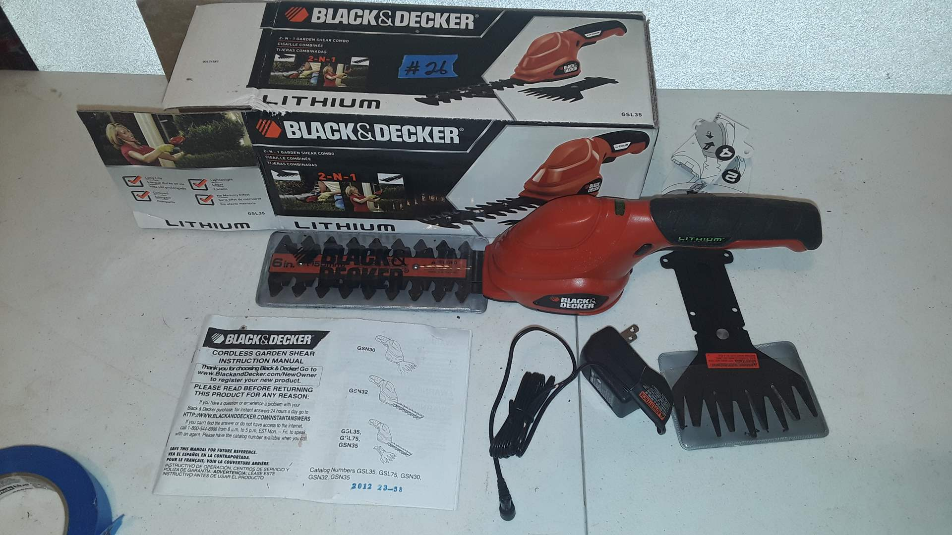 Lot # 26 BLACK AND DECKER TWO IN ONE GARDEN SHEARS, NEW
