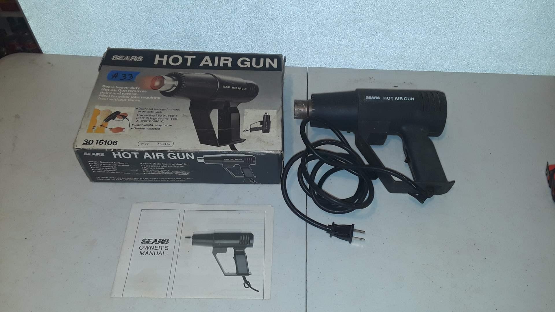 Lot # 33 SEARS HOT AIR GUN WORKS