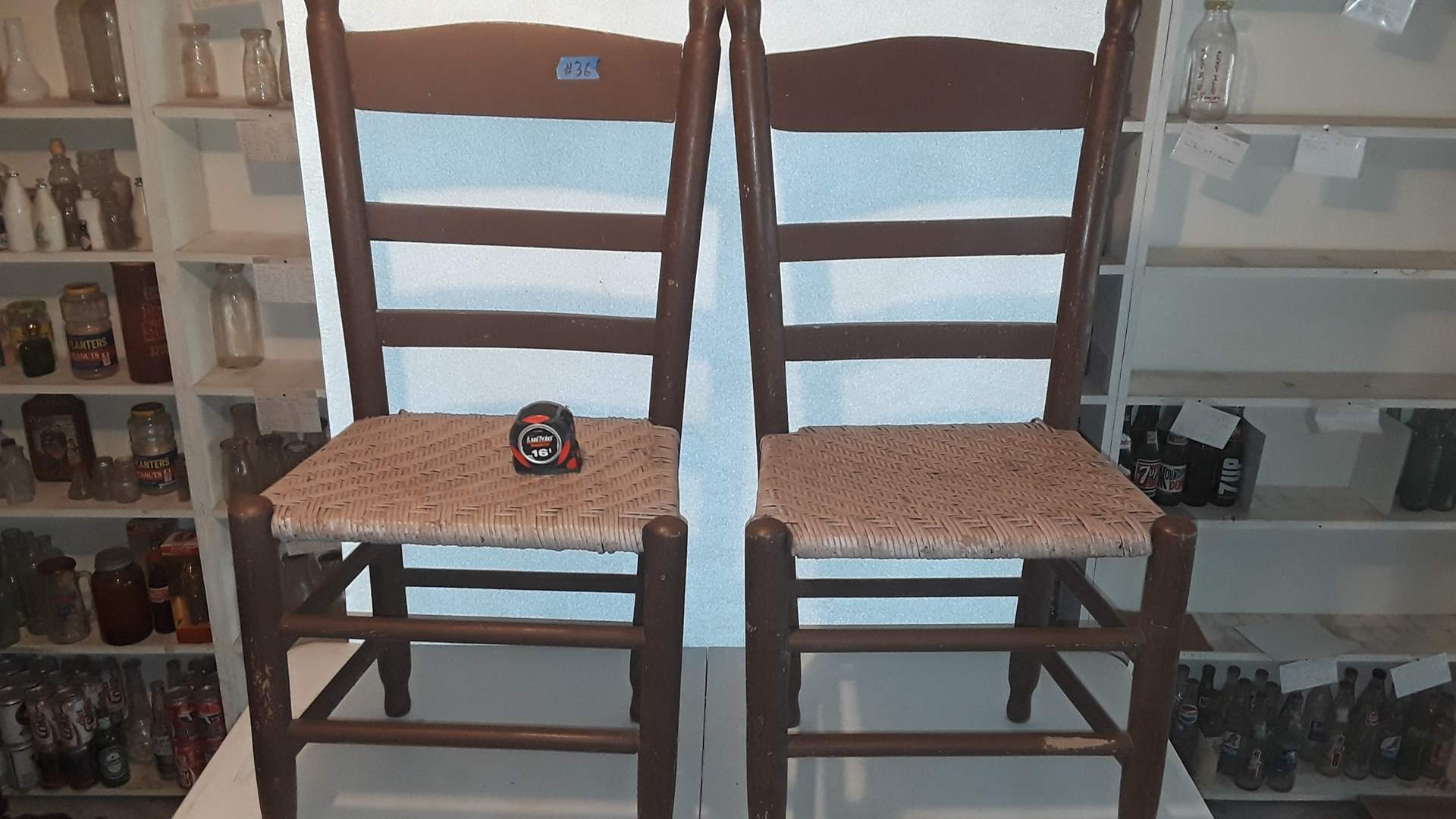 Lot # 36 ANTIQUE WOOD CHAIRS