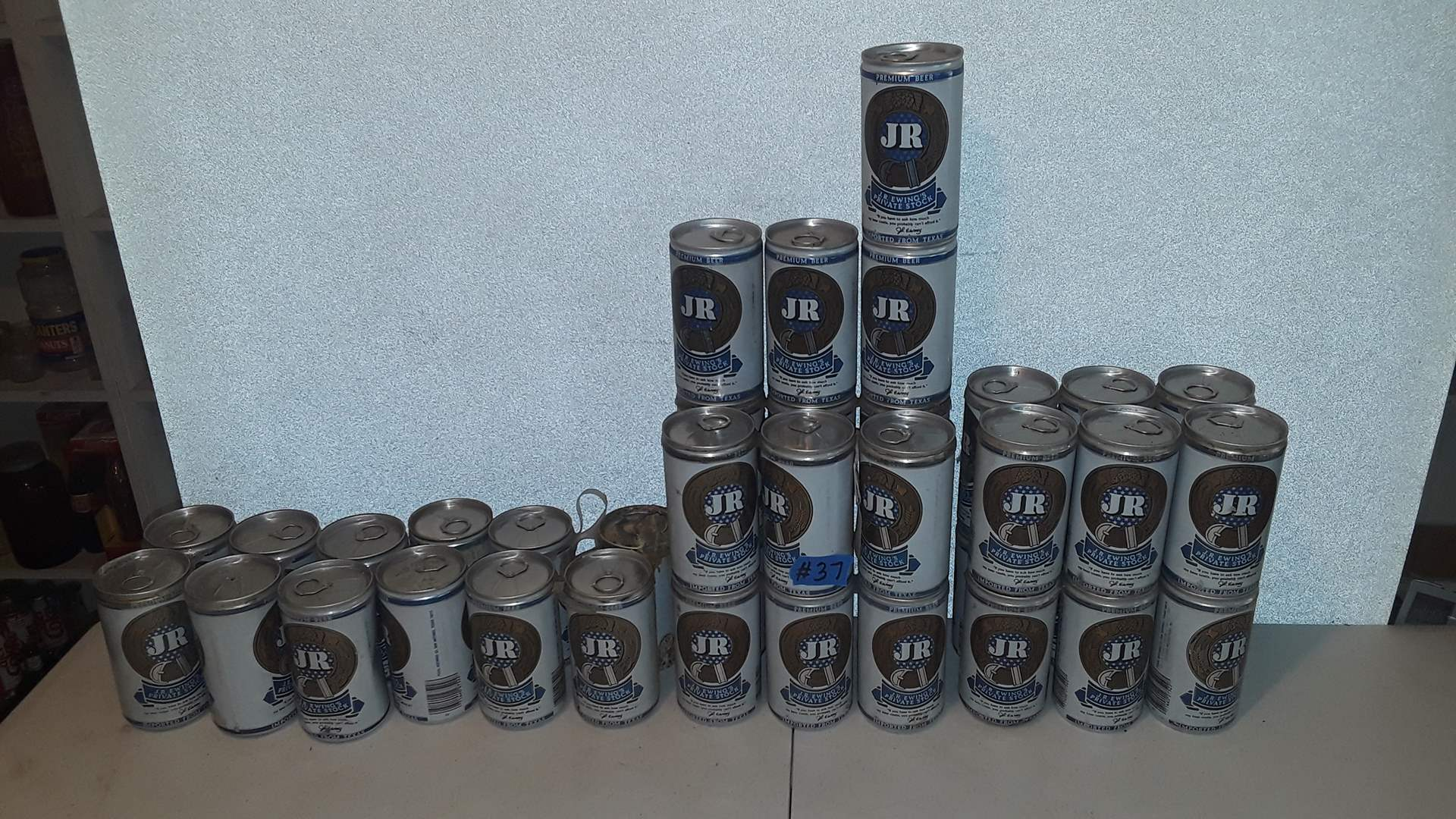 Lot # 37 COLLECTIBLE J.R. EWING BEER CANS