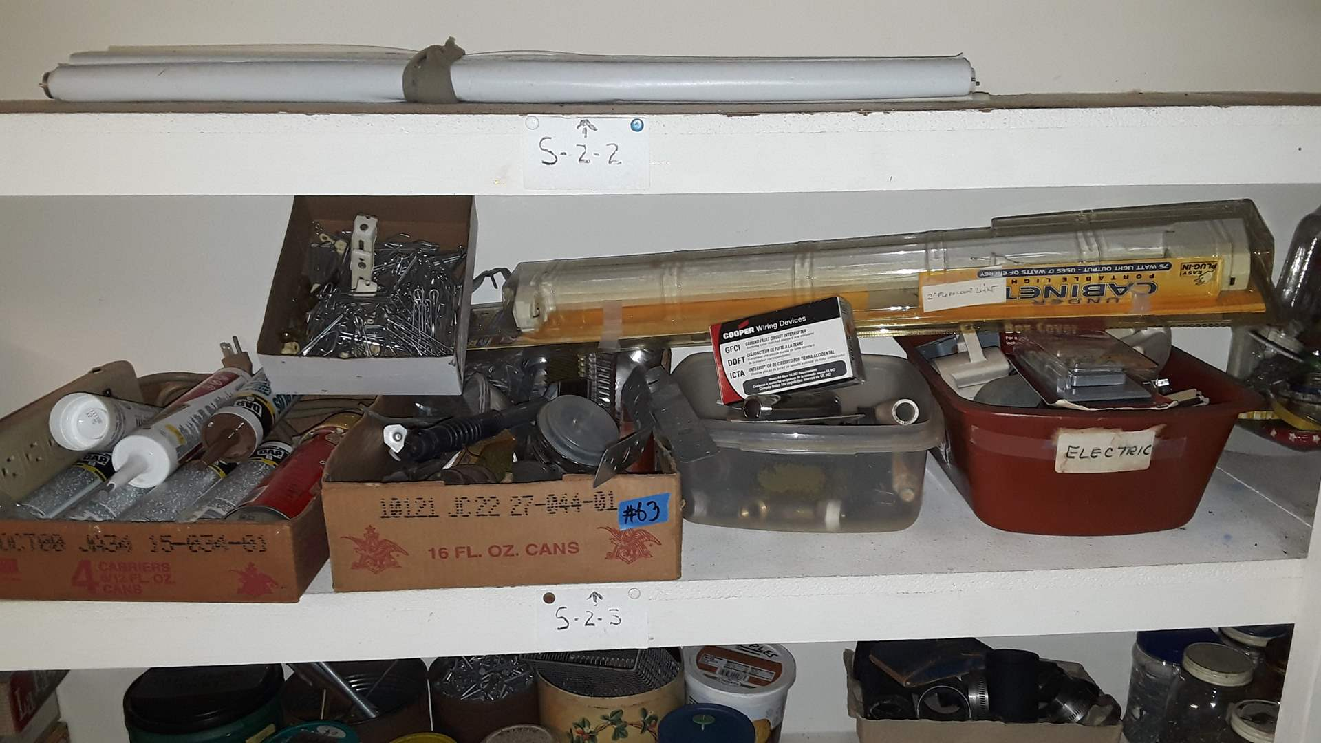 Lot # 63 MIXED GARAGE ITEMS OUTDOOR FAUCETS