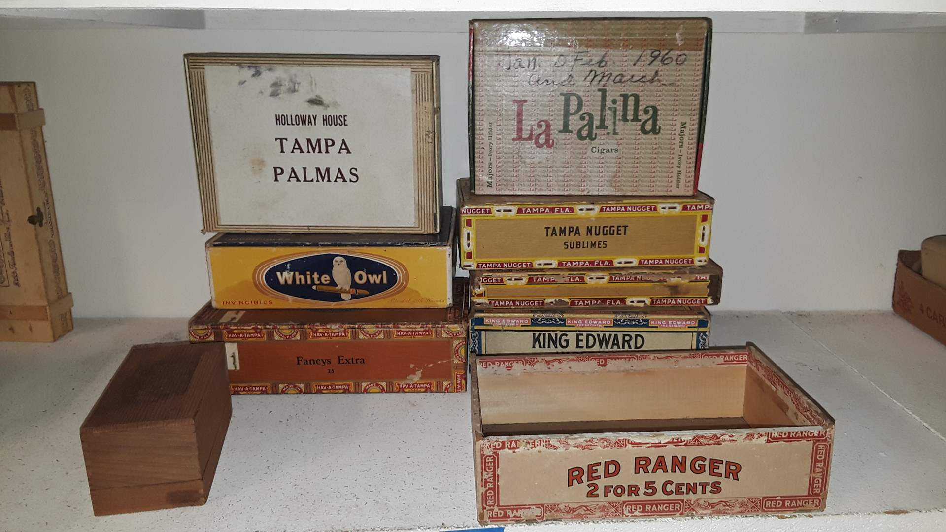 Lot # 72 ANTIQUE CIGAR BOXES