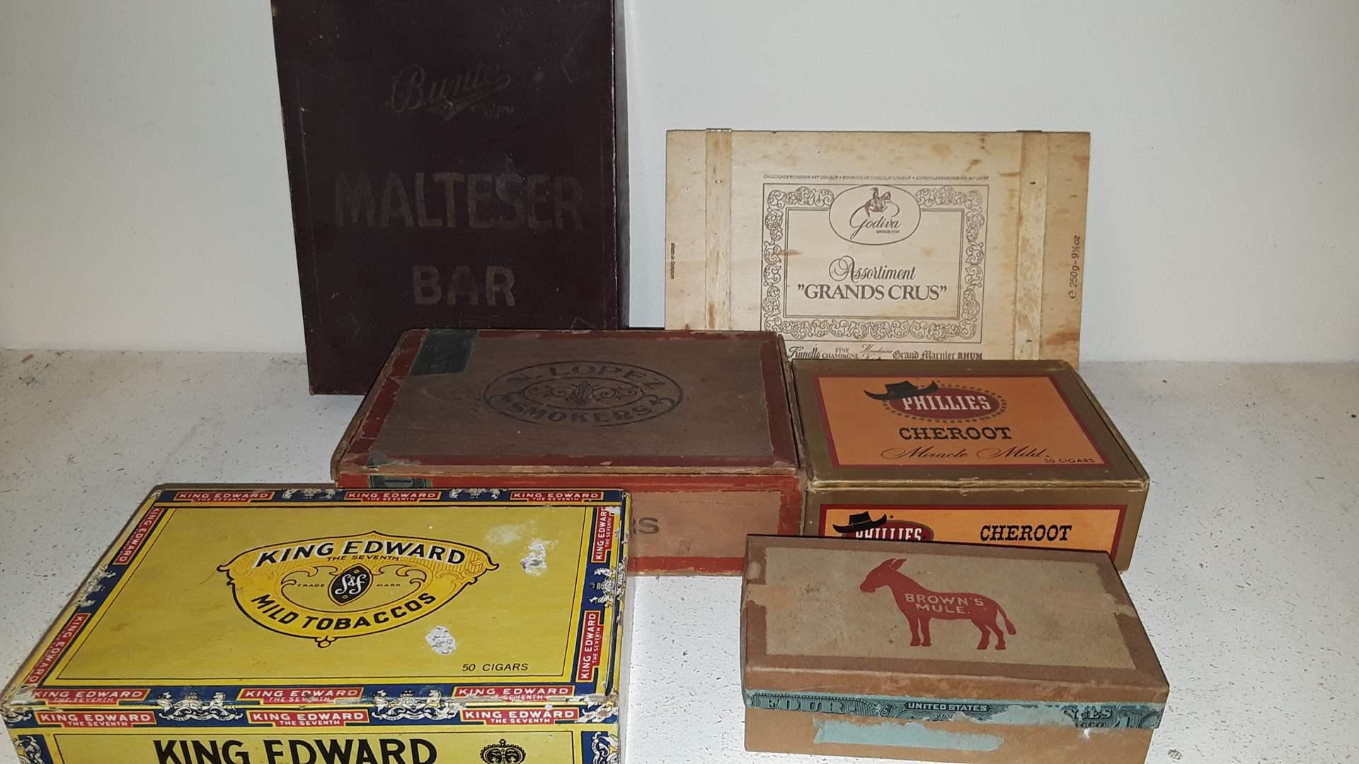 Lot # 73 ANTIQUE EMPTY BOXES