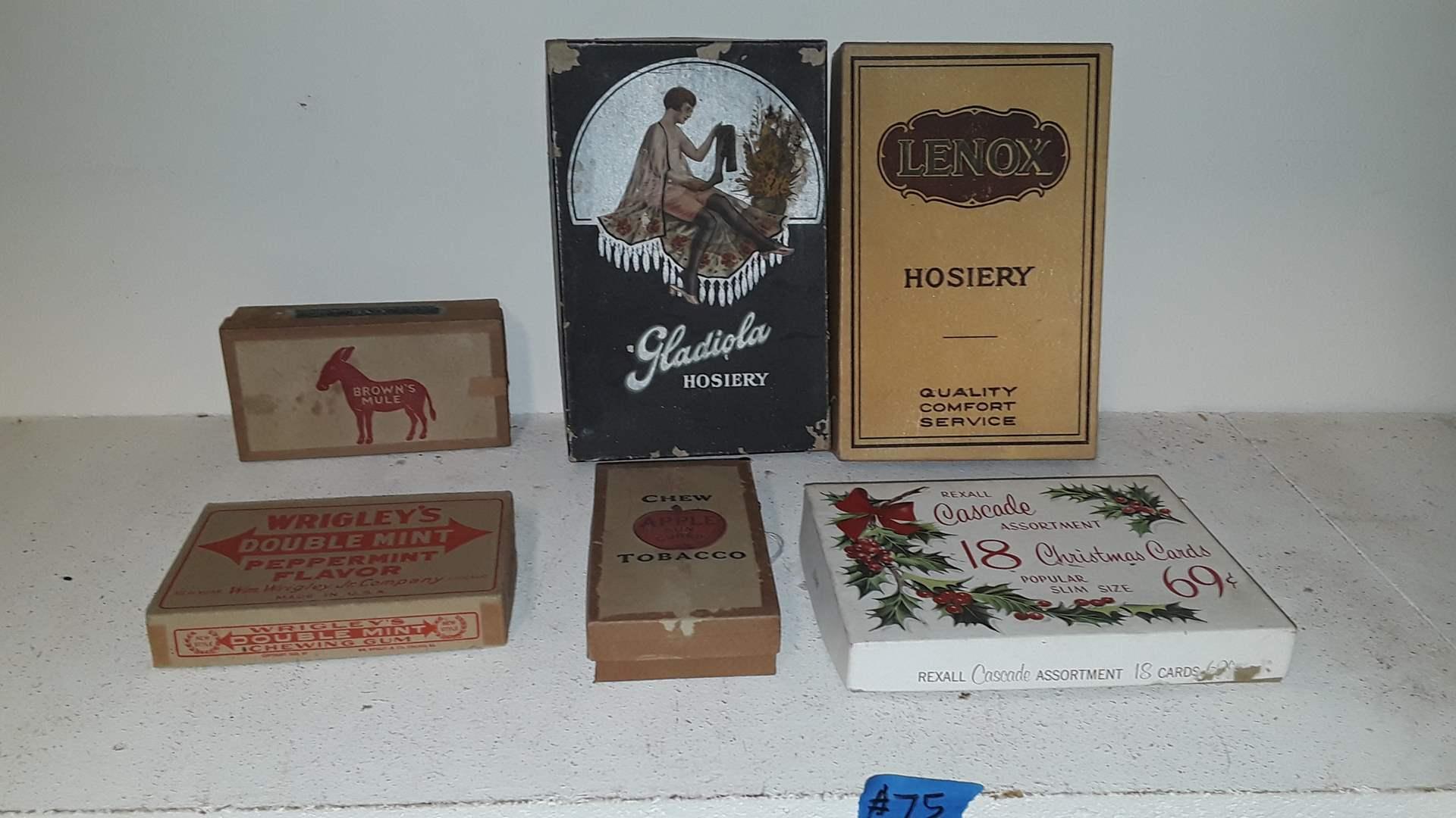 Lot # 75 ANTIQUE EMPTY BOXES