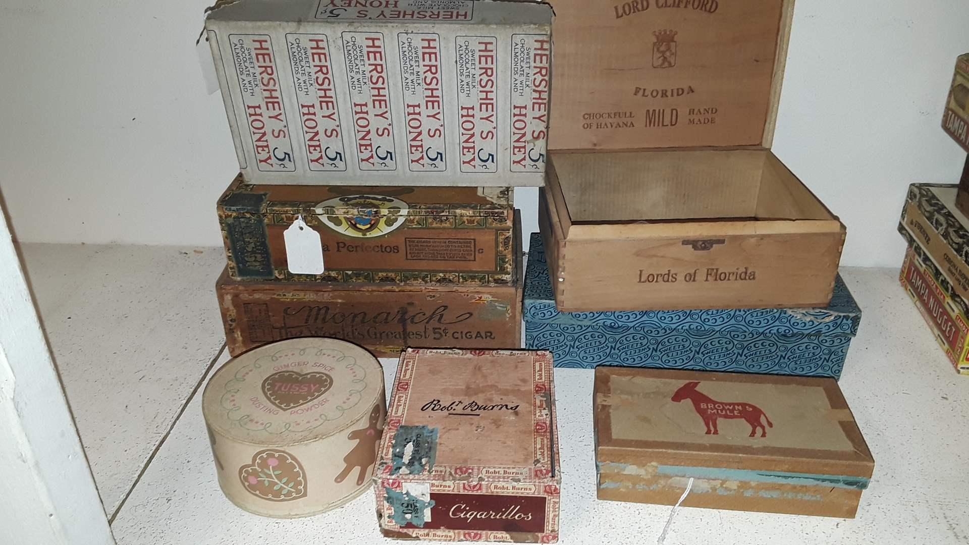 Lot # 87 ANTIQUE EMPTY BOXES