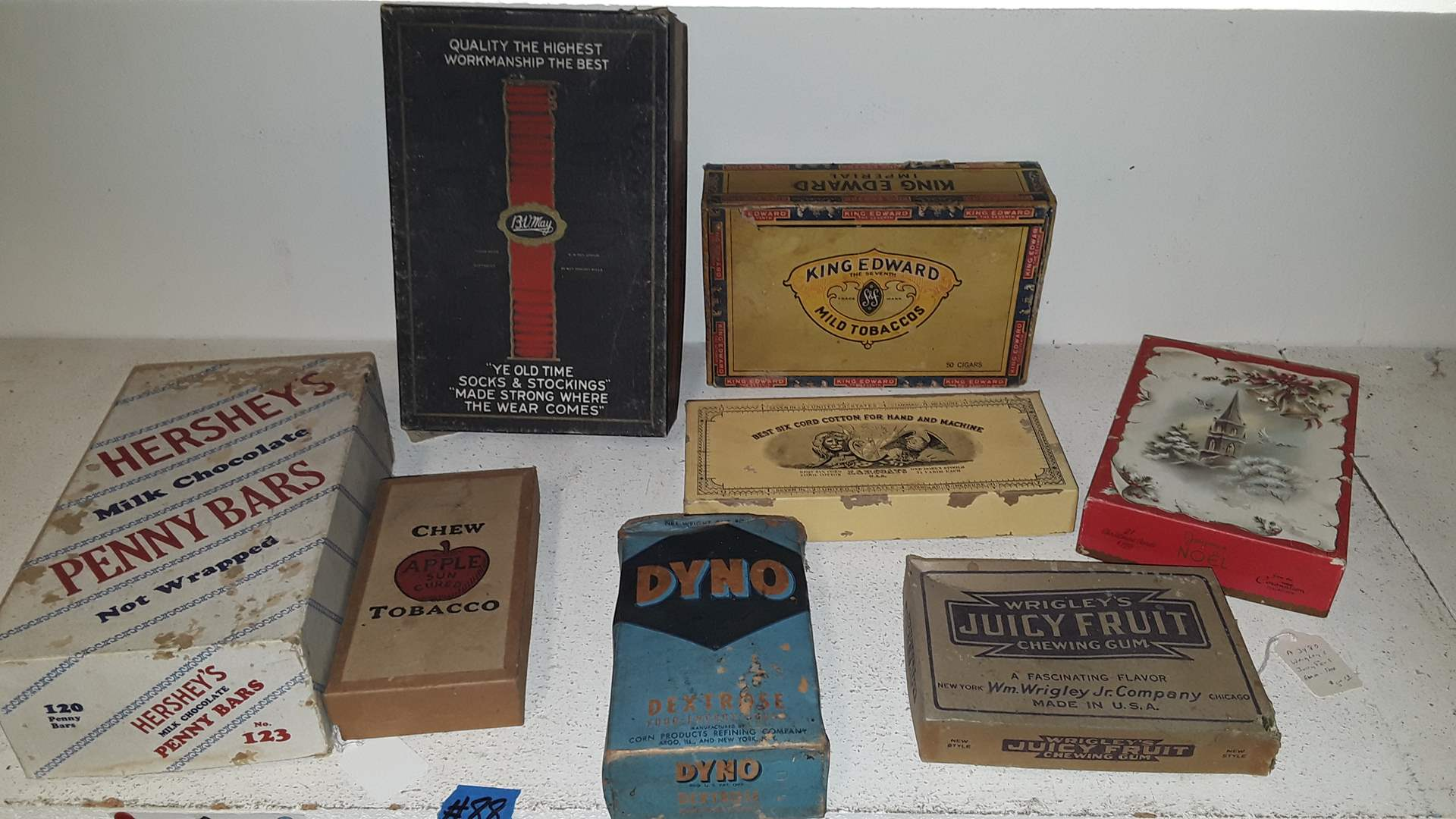 Lot # 88 ANTIQUE EMPTY BOXES, DYNO IS FULL