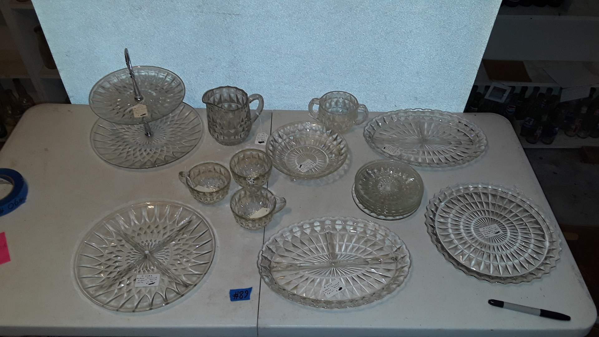 Lot # 89 ANTIQUE WINDSOR DIAMOND DISHES, GOOD CONDITION