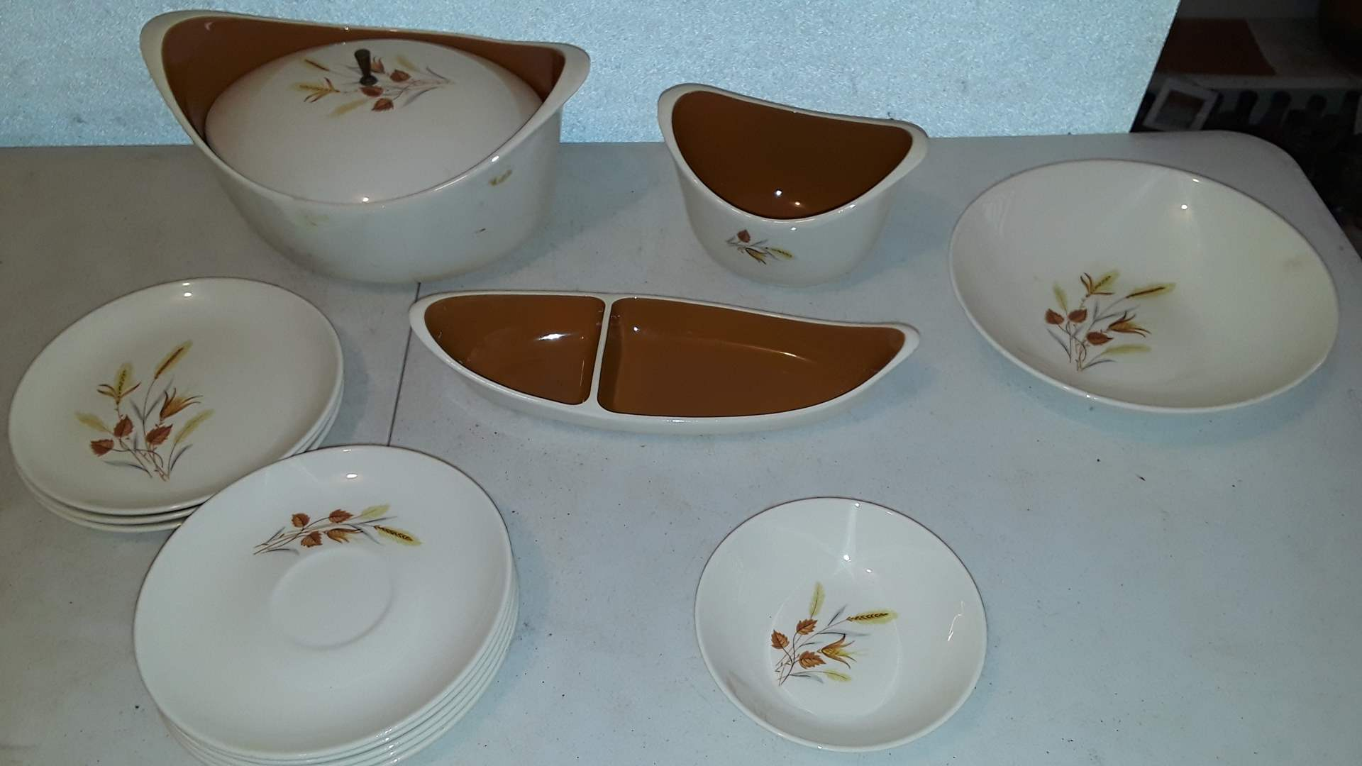 Lot # 115 EVER YOURS AUTUMN HARVEST BY TAYLOR SMITH TAYLOR DISH SET, GOOD CONDITION
