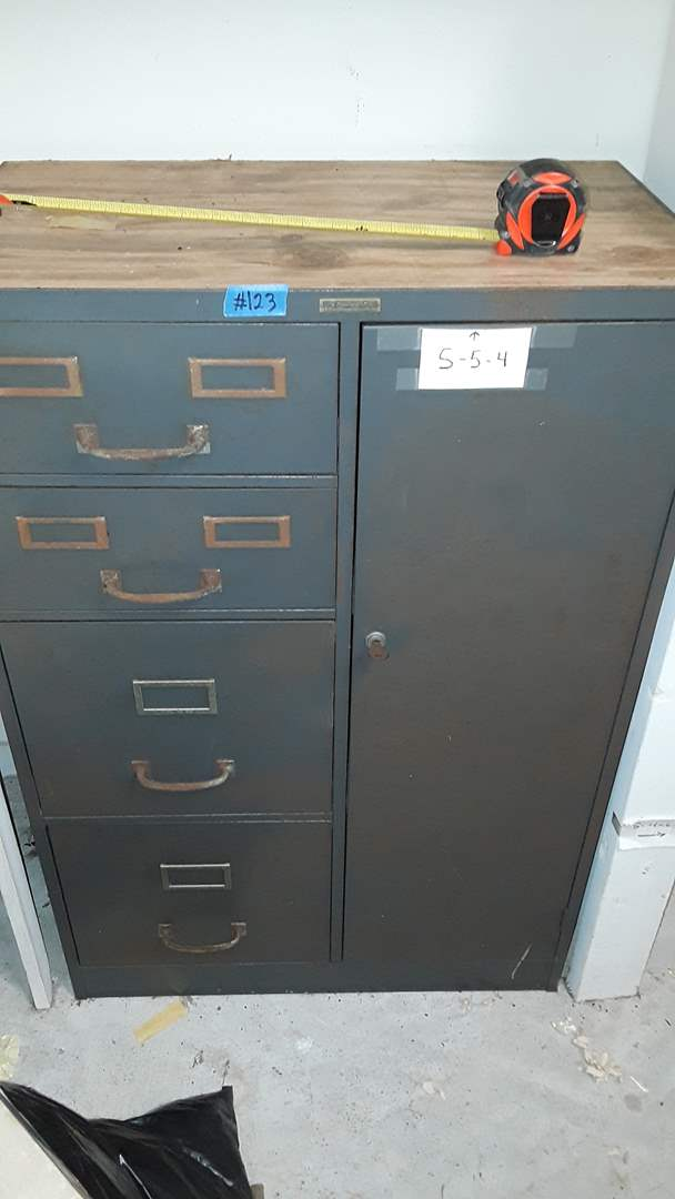 """Lot # 123 VINTAGE FILING CABINET, 27"""" X 16"""" AND 40"""" TALL"""