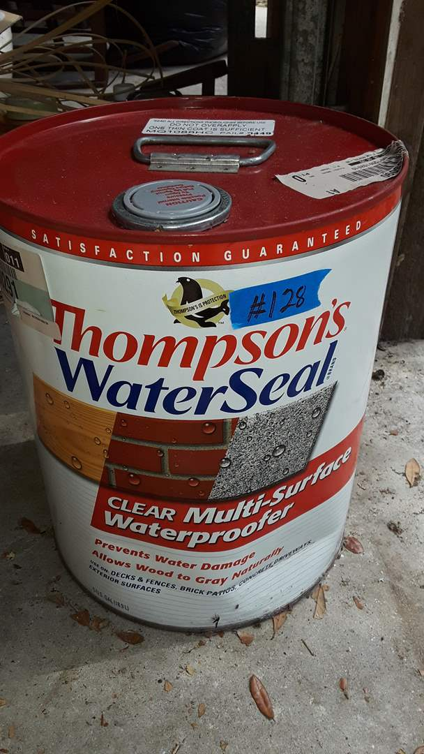 Lot # 128 THOMPSONS WATER SEAL UNOPENED 5 GALLON CAN