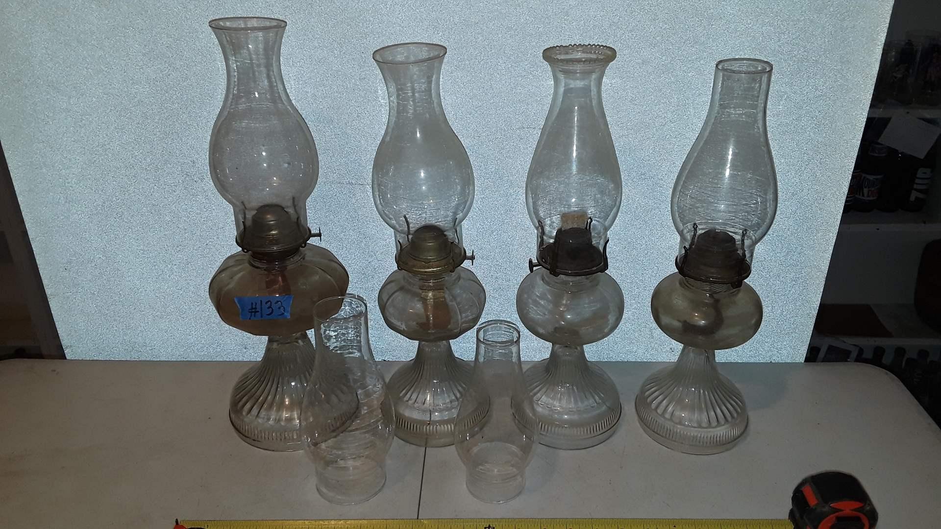 Lot # 133 ANTIQUE KEROSENE LAMPS