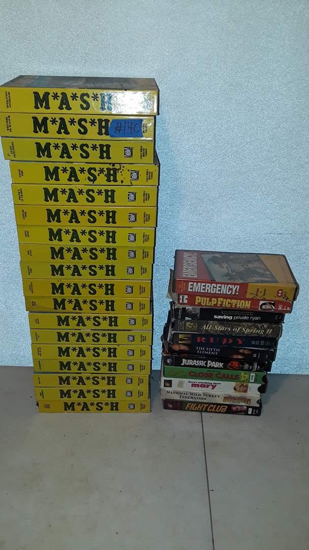 Lot # 140 MASH DVD'S, PULP FICTION
