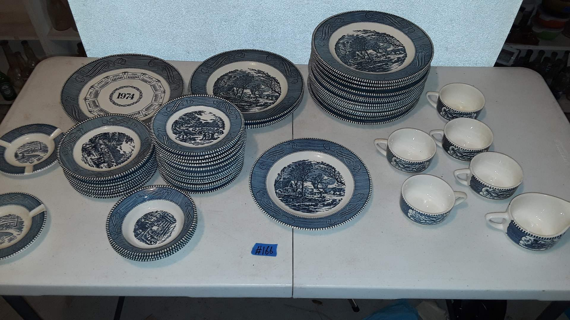 Lot # 166 CURRIER AND IVES ROYAL IRONSTONE, GOOD CONDITION