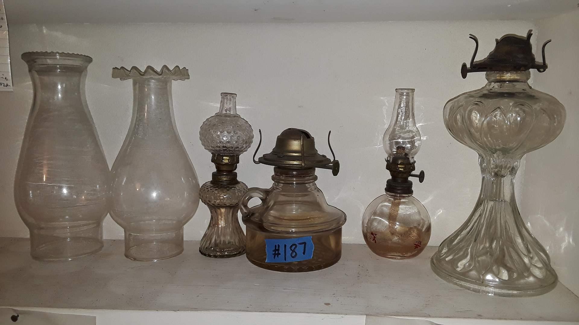 Lot # 187 VINTAGE KEROSENE LAMPS